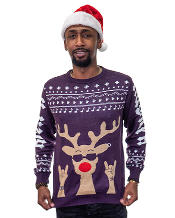 rockin rudolph ugly sweater product image man 4