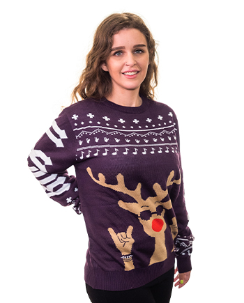 rockin rudolph ugly sweater product image woman 2