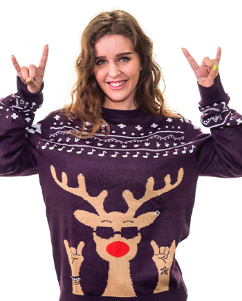 rockin rudolph ugly sweater product image woman 5