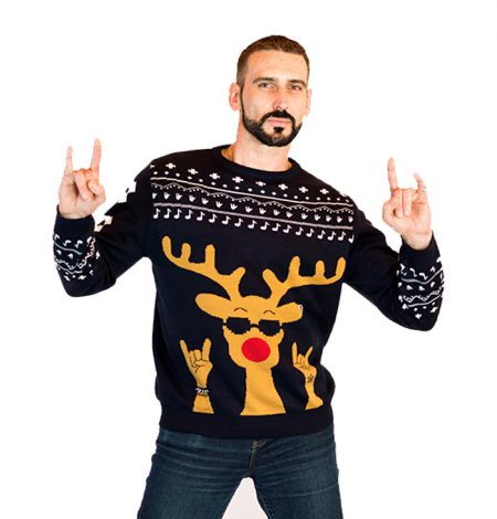 Men's Rockin' Rudolph Ugly Sweater 1