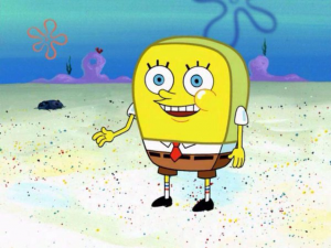 Spongebob trying to act 'normal'