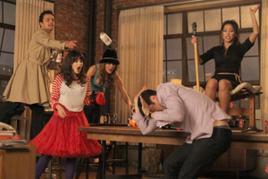 New Girl characters playing True American