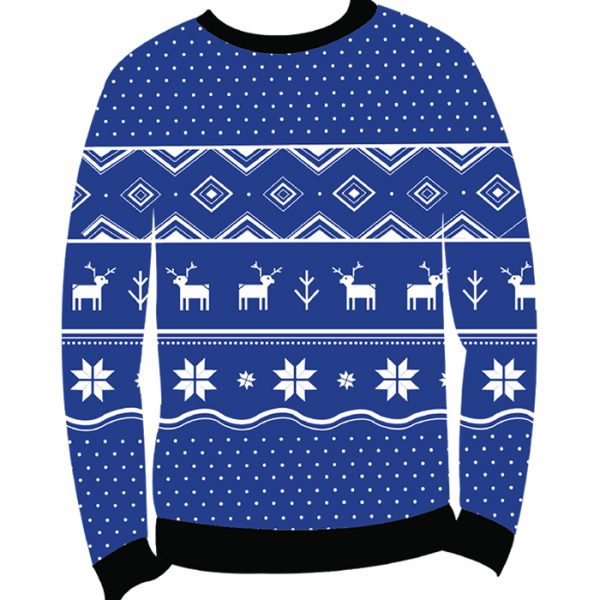 Classic Christmas: Shop Men's Blue Deer Ugly Sweater