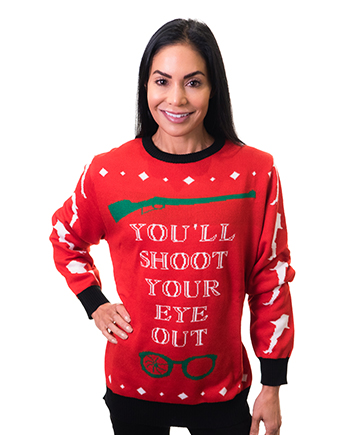 christmas story ugly sweater product image woman