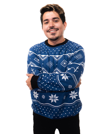 blue reindeer ugly sweater product image man 3