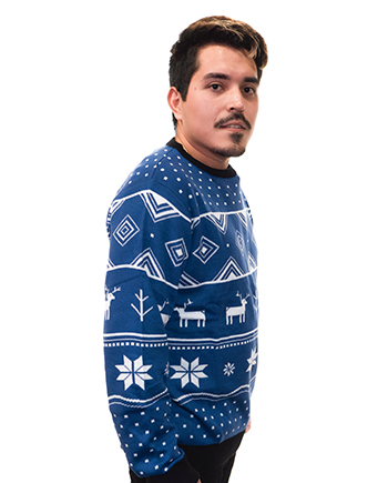 blue reindeer ugly sweater product image man 2