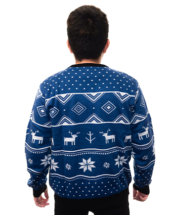 blue reindeer ugly sweater product image man