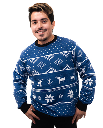 blue reindeer ugly sweater product image man 4