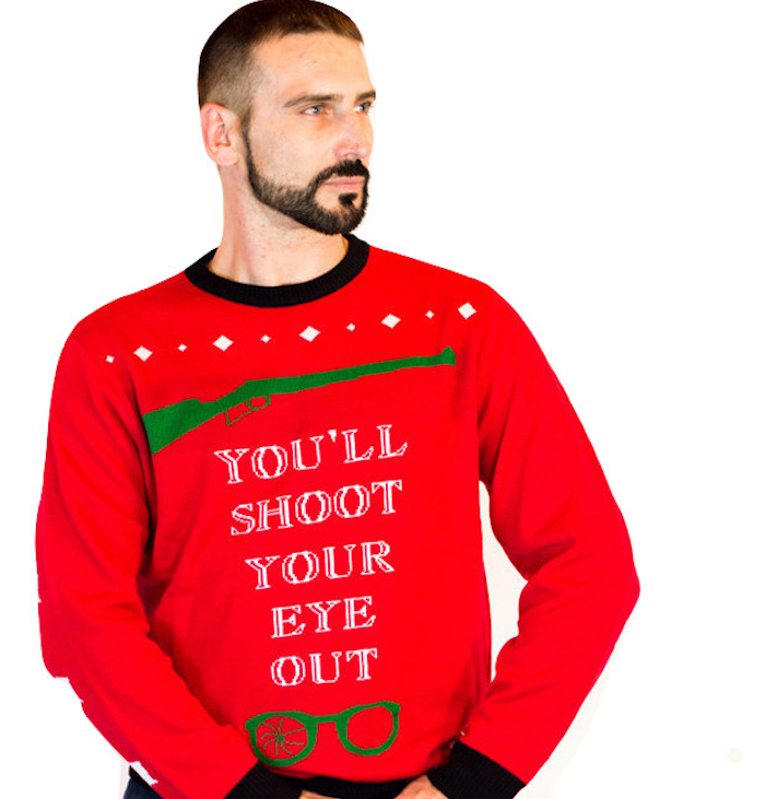 mens christmas story youll shoot your eye out ugly sweater 1