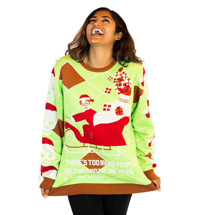 Elf Movie Ugly Christmas Sweaters Cotton Headed Ninny Muggins