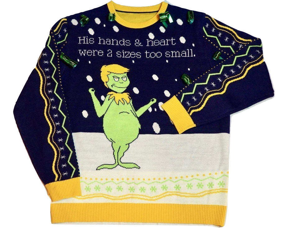 Fake News Grinch Ugly Sweater 2