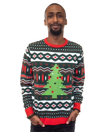 christmas tree ugly sweater product image man