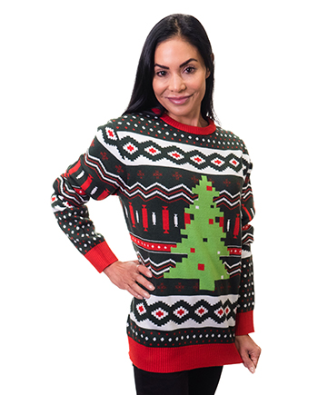 christmas tree ugly sweater product image woman 3