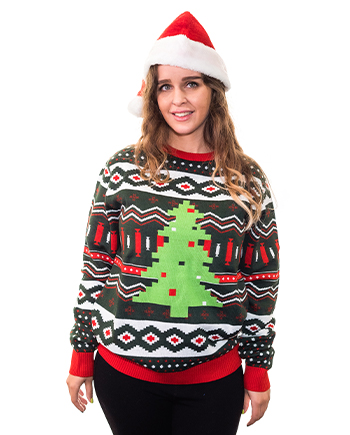 christmas tree ugly sweater product image woman 6