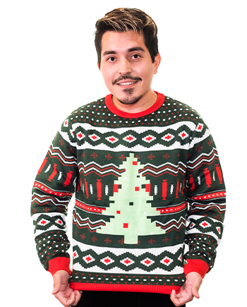 christmas tree ugly sweater product image man 4