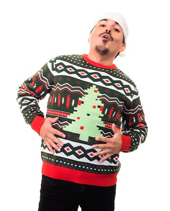 christmas tree ugly sweater product image man 3