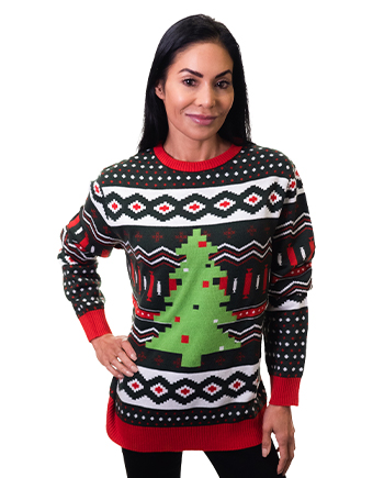 christmas tree ugly sweater product image woman 5