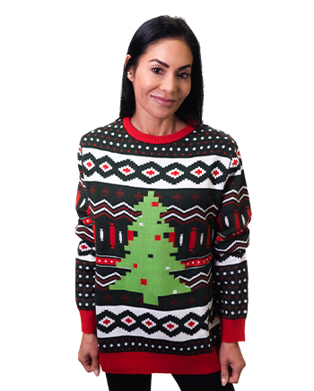christmas tree ugly sweater product image woman 4