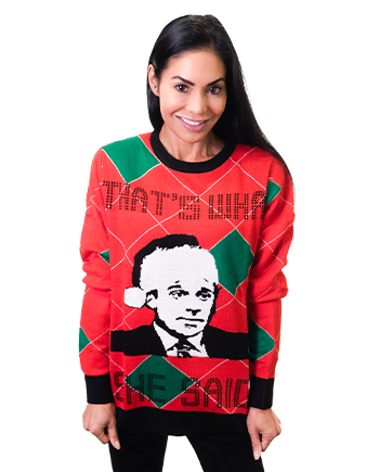 that's what she said ugly sweater product image woman