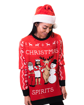 christmas spirits ugly sweater product woman 4