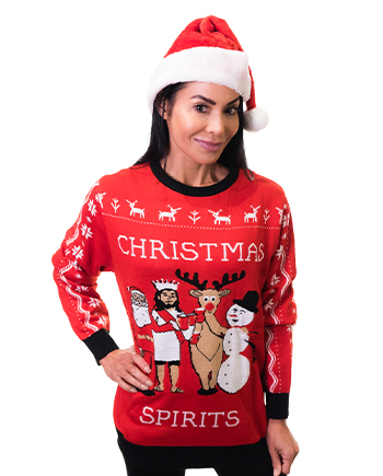 christmas spirits ugly sweater product woman 3