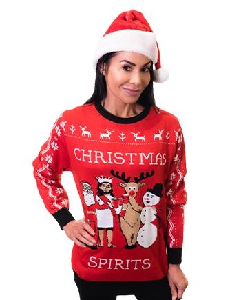 christmas spirits ugly sweater product woman 3