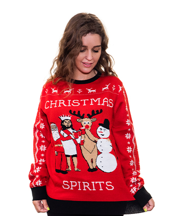 christmas spirits ugly sweater product woman 6