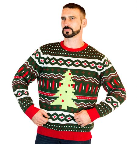 Men's Christmas Tree Swag Ugly Sweater 1