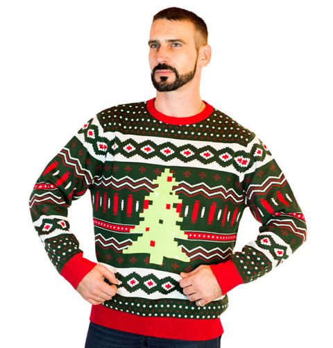 mens christmas tree swag ugly sweater 1