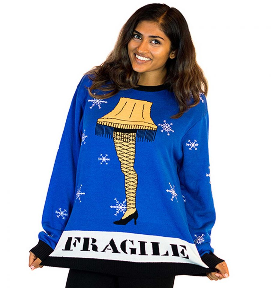 fragile womens ugly sweater