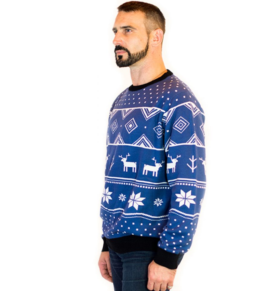 blue ugly christmas sweater men