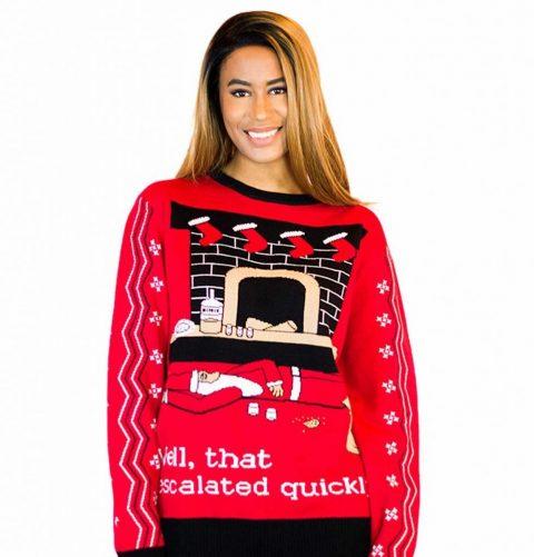 escalated ugly christmas sweater