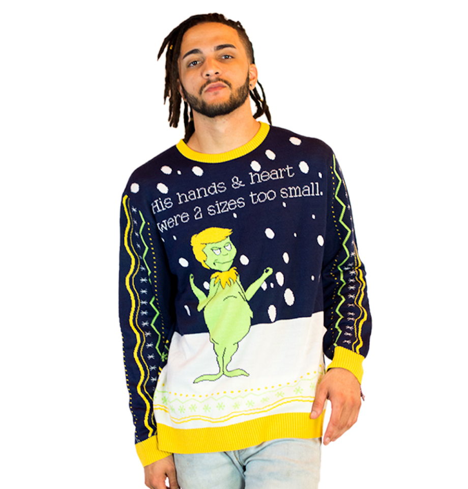 grinch ugly christmas sweater mens