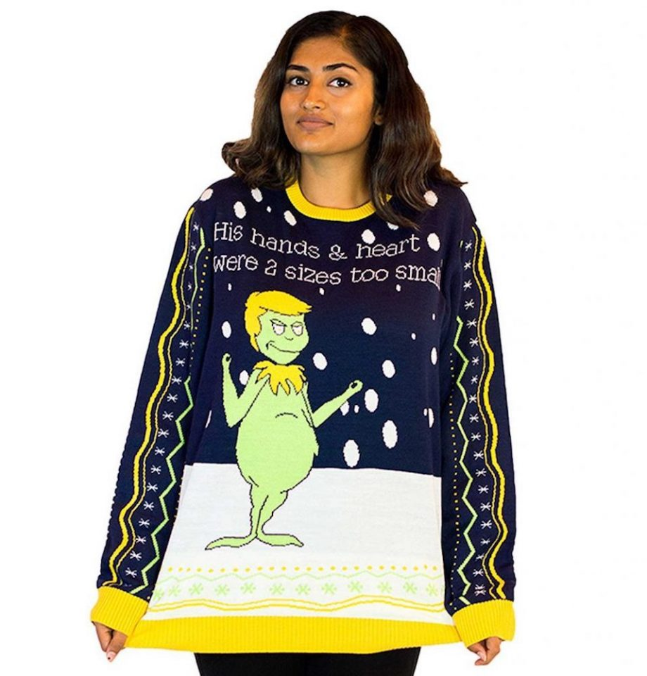 grinch ugly christmas sweater woman