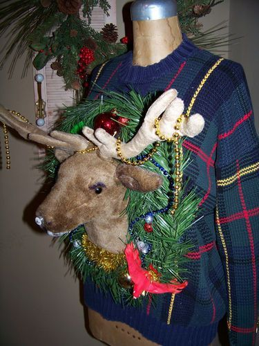 DIY deer head sweater